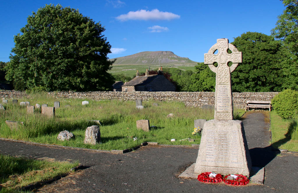 Penyghent from Horton churchyard