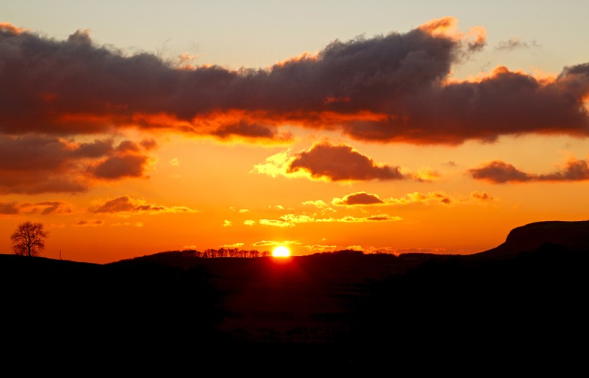 yorkshire sunset austwick