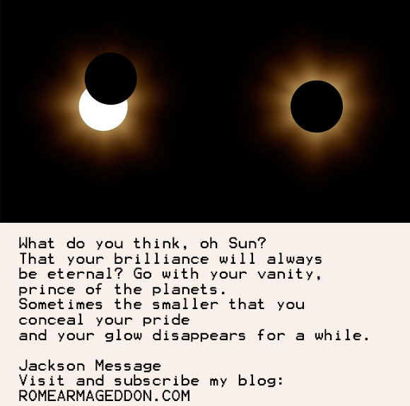 3 messages automatically written about the Solar Eclipse 2017
