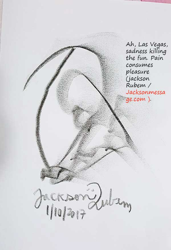 Ilustration with Mass shooting in Las Vegas - Message 2