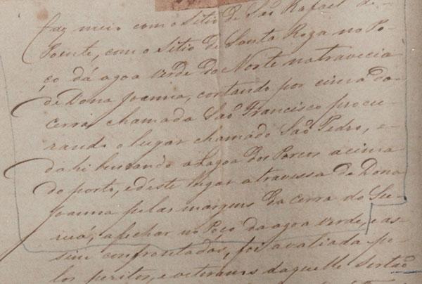 Irecê - arrendatários - Fac-Smile Parte 4 de Escritura de 1807 referente as terras de Irecê