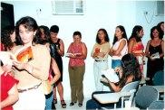 Jackson Rubem - pessoas aguardando na fila um autógrafo do livro Irecê: História, Casos e Lendas.