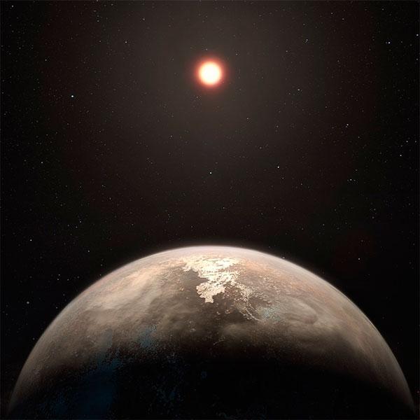 Imagem artística do outro planeta igual a terra