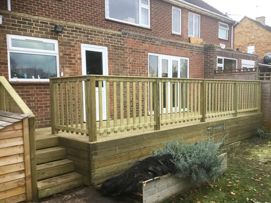 Wooden Garden Balustrade Jacksons Fencing | Wood Balustrades And Handrails | Porch Railings | Front Porch | Stainless Steel | Stair Railings | Glass Balustrade