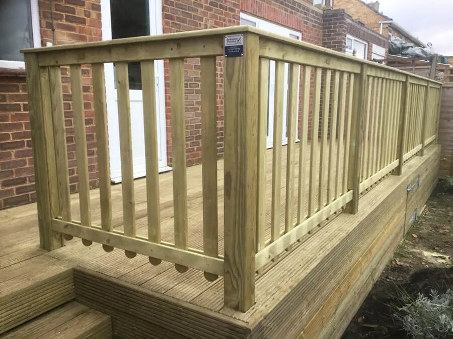 Wooden Garden Balustrade Jacksons Fencing | Wood Balustrades And Handrails | Balcony Railing | Deck Railing Ideas | Railing Systems | Wrought Iron Balusters | Stair Railings