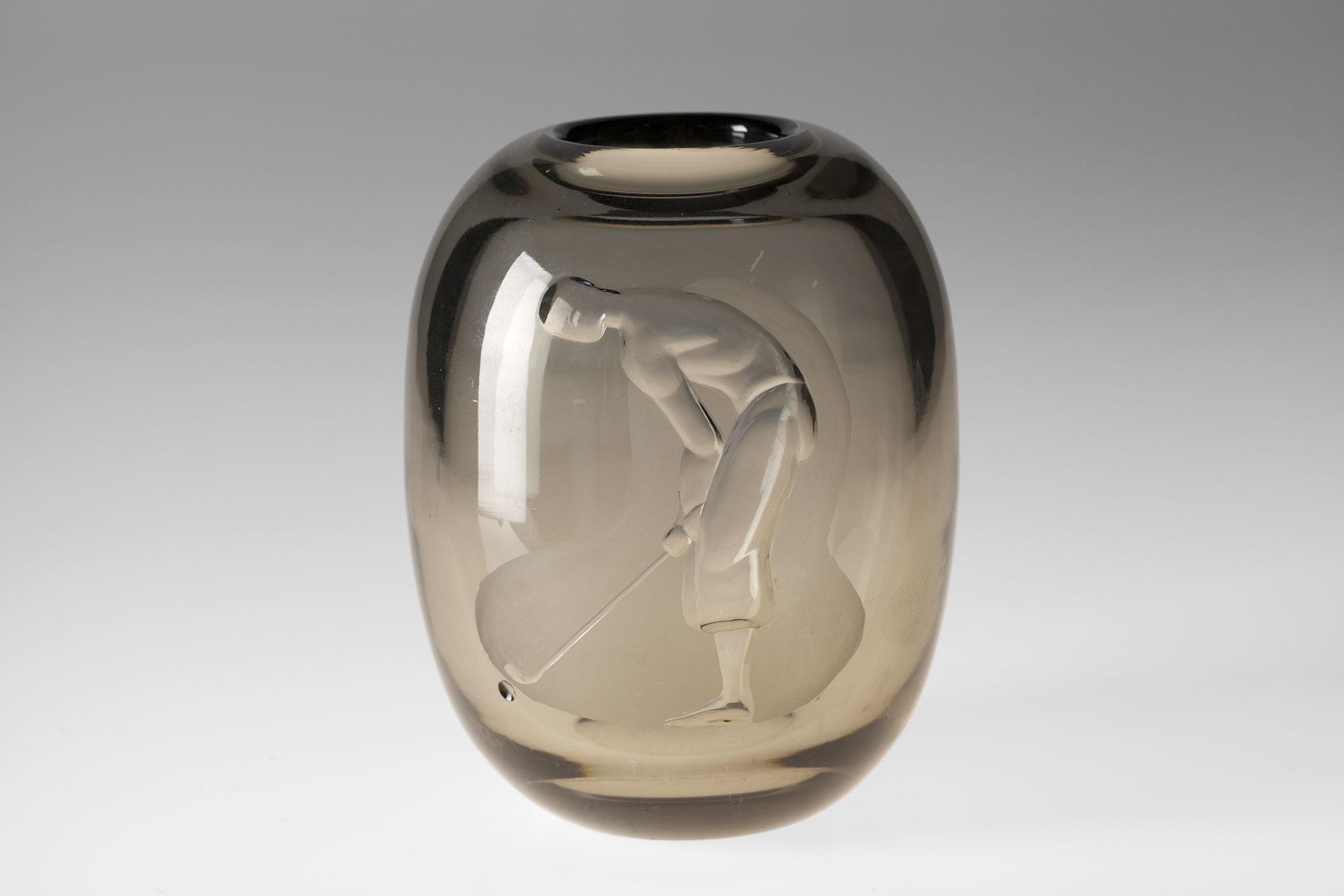 Jacksons Engraved Vase Vicke Lindstrand