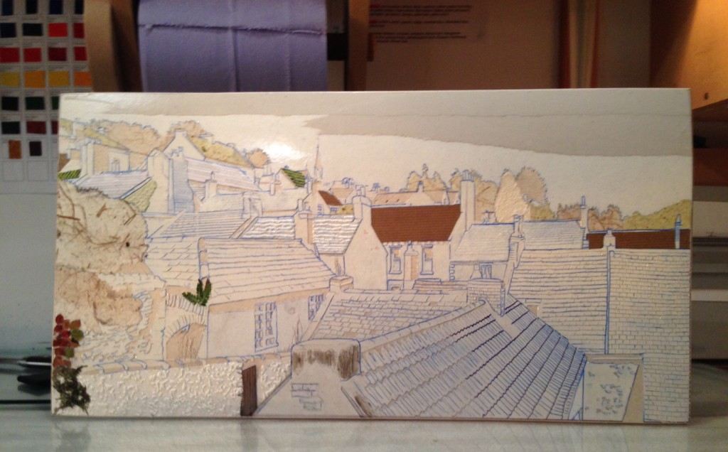 Suzie MacKenzie: A finished plate - ready for printing!