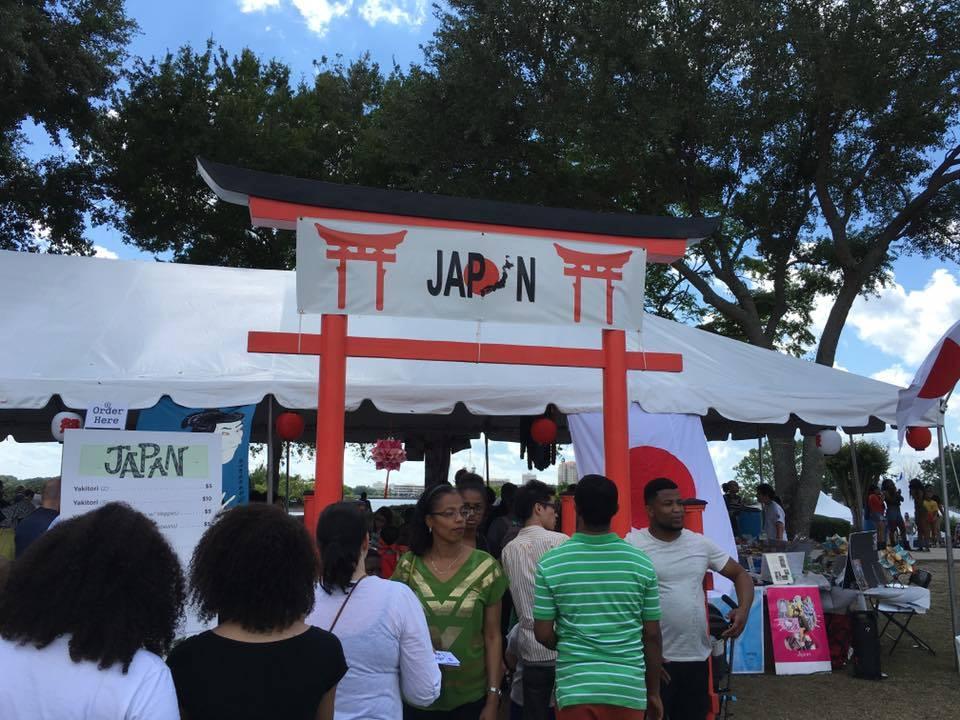 Visitors at World of Nations Japan Pavilion