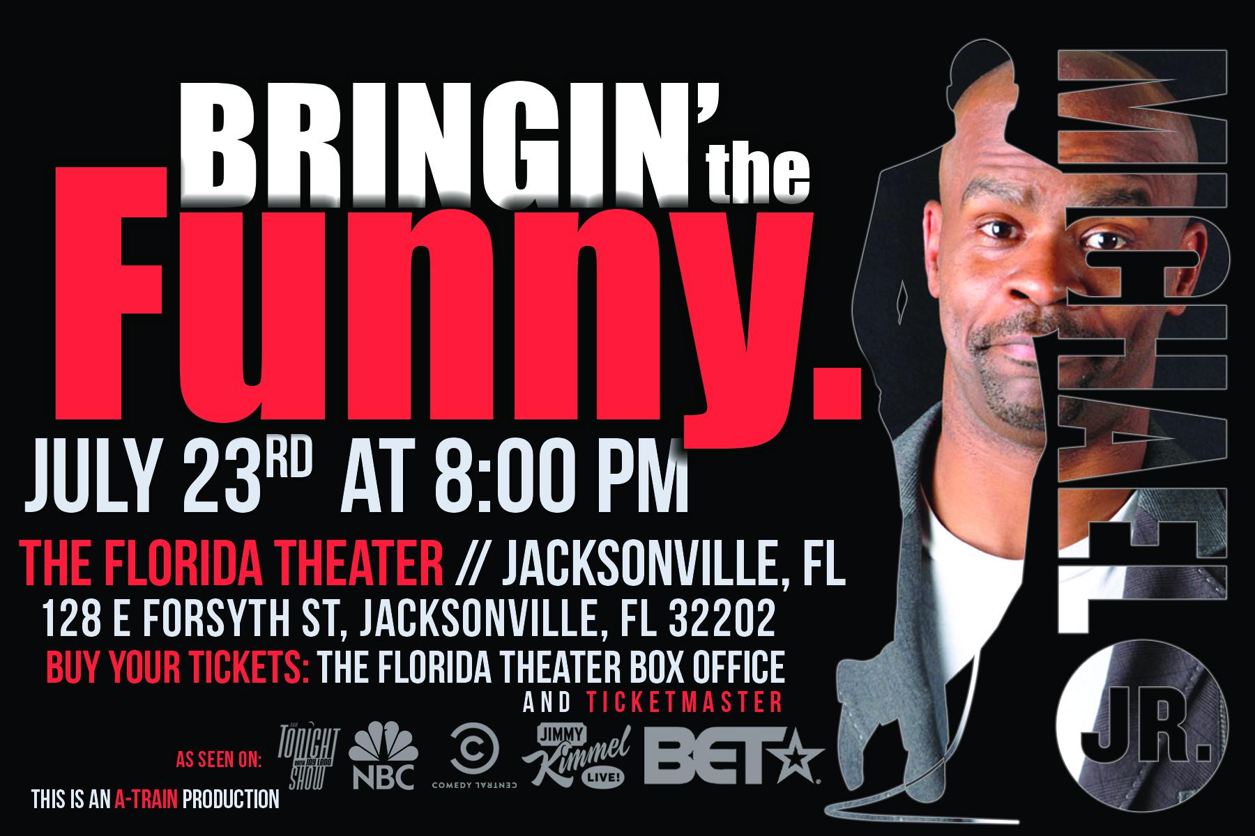 Comedian A-Train Presents Michael Jr  LIVE! | Jacksonville