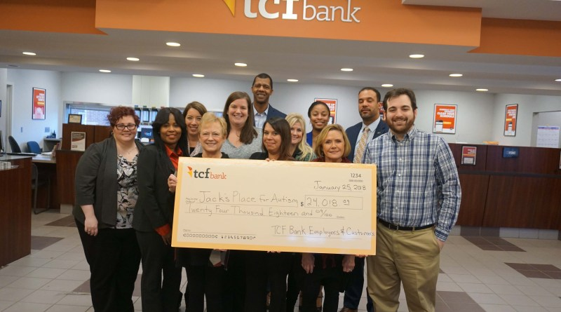 JACK'S PLACE for Autism and TCF Bank Donation