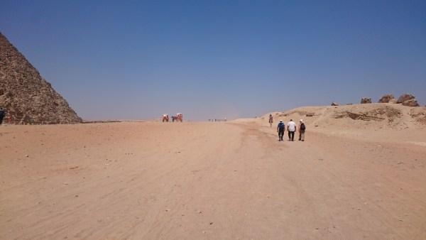 Tourists at the Giza Necropolis