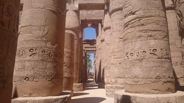 Pillars at the Temple of Karnak