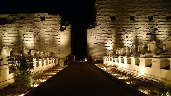The Temple of Karnak at Night