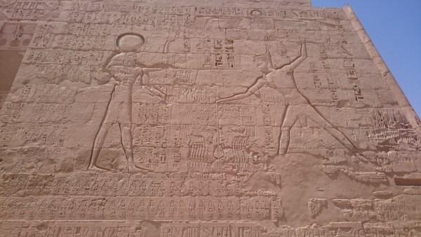 Hieroglyphics at Medinet Habu