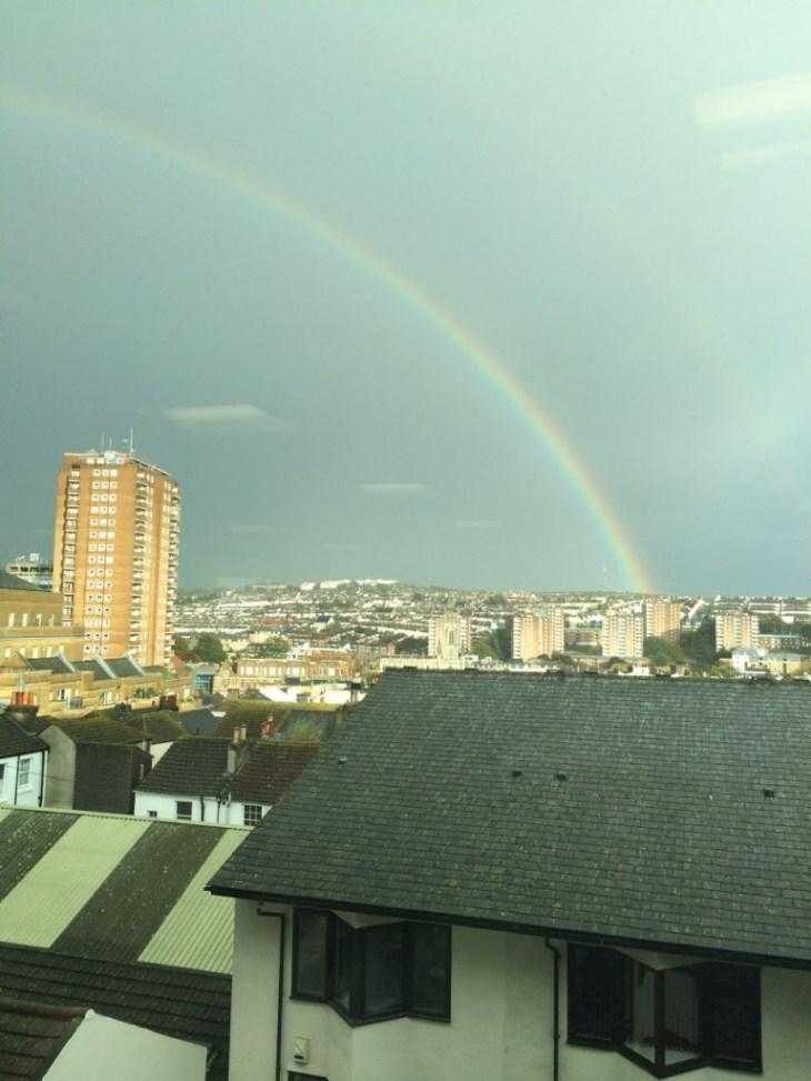 A rainbow across Brighton