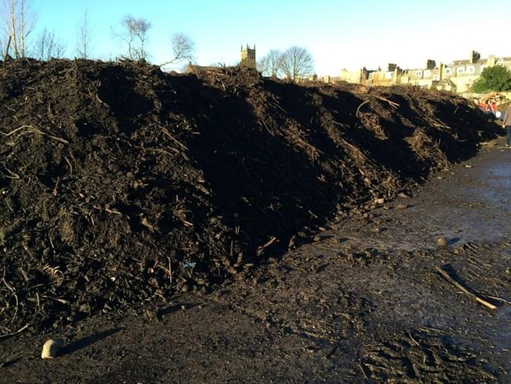 Gigantic compost heap