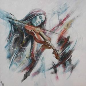 Concerto vibrato - 80 X 80 cm