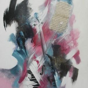 Création Musical  80 x 100 cm