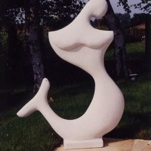 Sirène  - Pierre - 100 cm