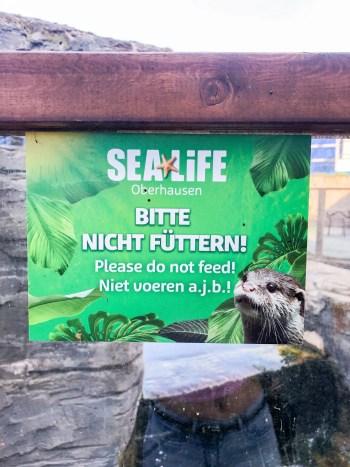 Bitte nicht füttern Schild Sea Life Oberhausen