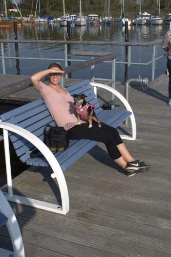 Jacky am Hafen an der Ostsee