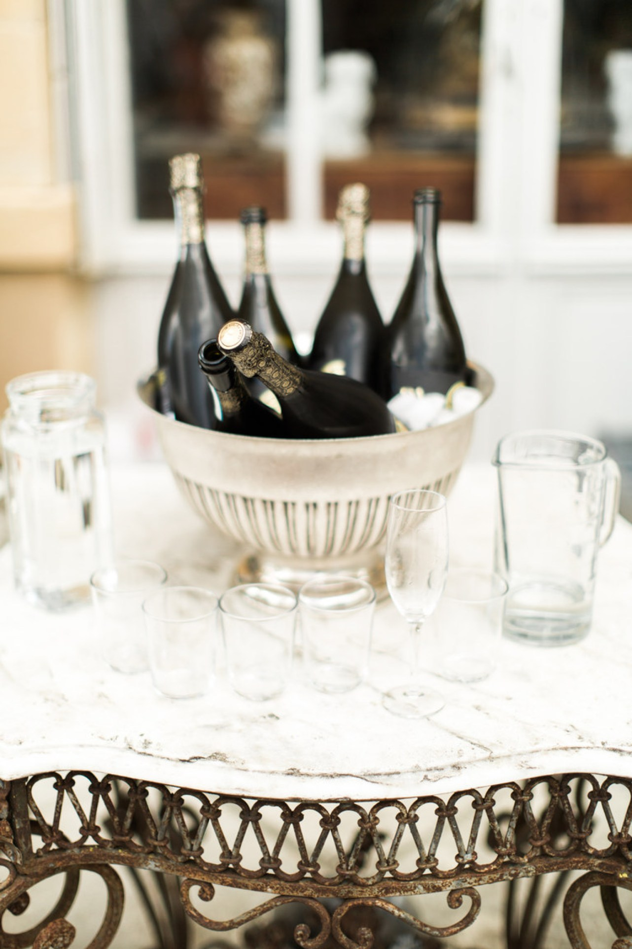 Wedding Champagne Reception at Chateau la Durantie in France