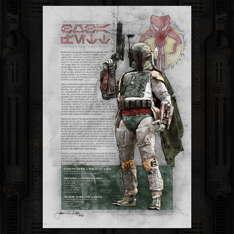 boba-fett-art-print-with-slave-one-star-wars