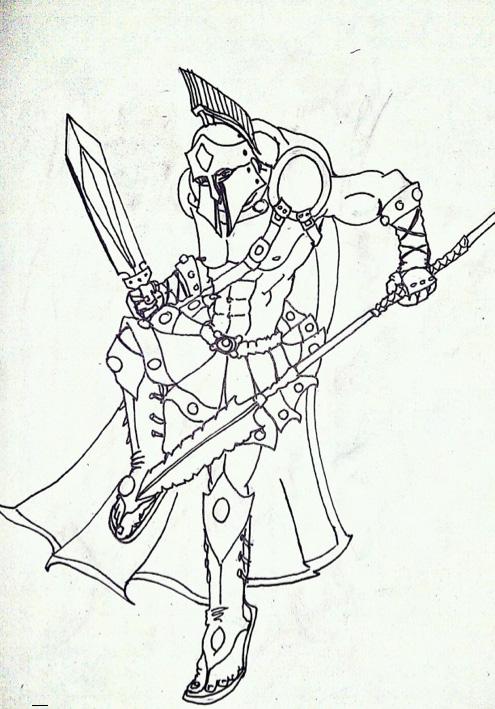 gladiator cartoon colored