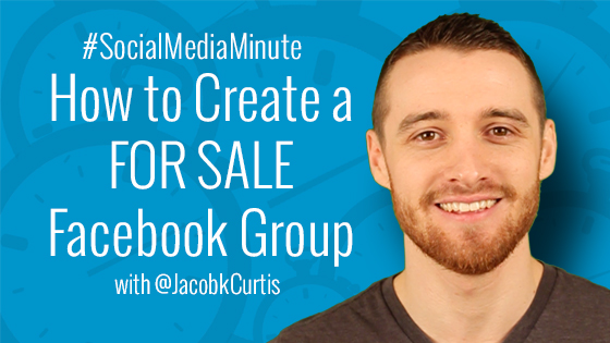 How to Create a FOR SALE Facebook Group