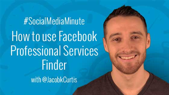 Facebook professional services search
