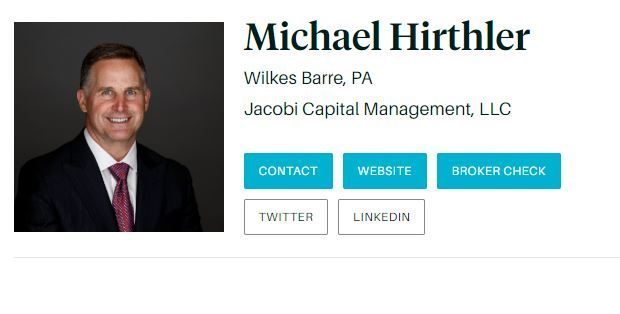 Hirthler Named Barron's Top 1200 in 2019