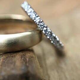 yellow gold and white gold diamond ring