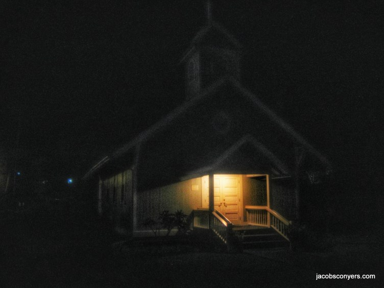 Ghostly old church (at about 4am)