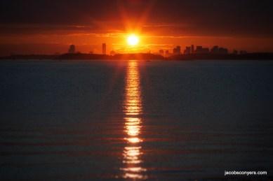 Boston from Peddocks Island