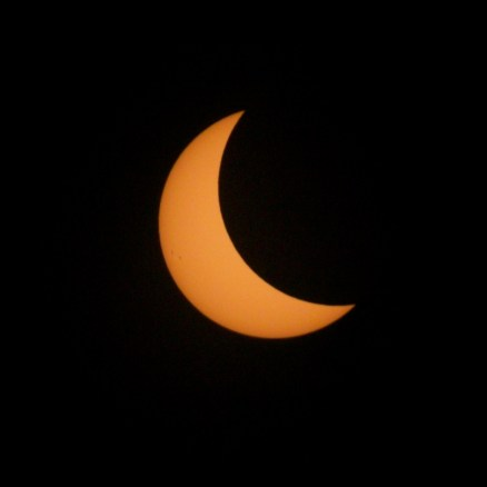 Views of the solar eclipse