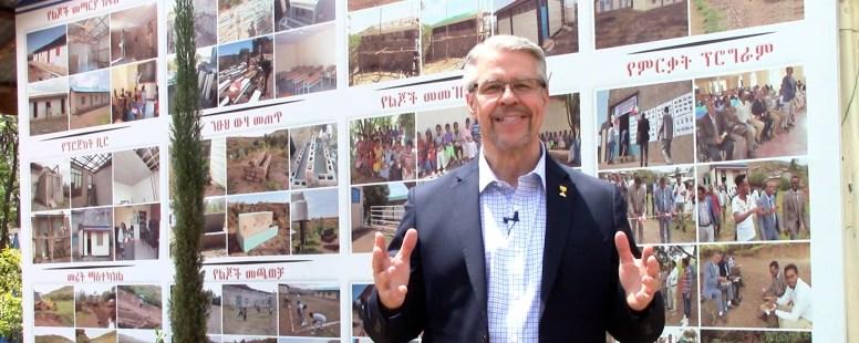 Brent Johnson at conference in Gondar, Ethiopia