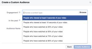 facebook video retargeting