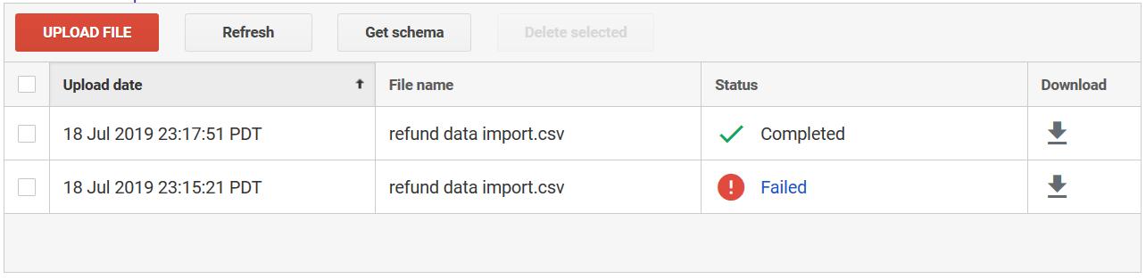 Godkendt CSV fil.