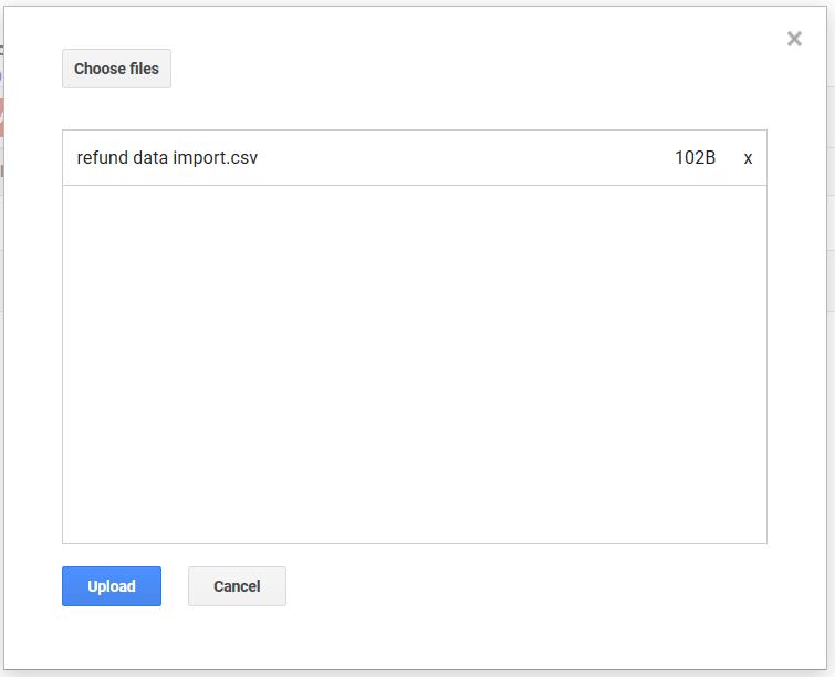 Upload CSV filen.