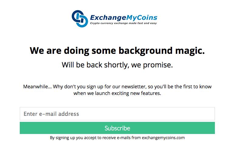 Statusside mens sitet var offline.