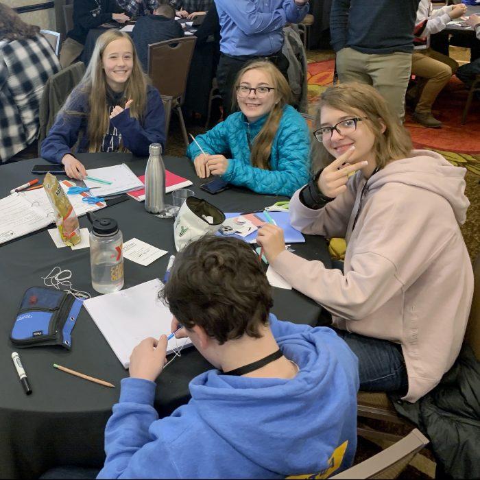 Team of teens from STEM School Highlands Ranch at the Junior Space Entrepreneur Program