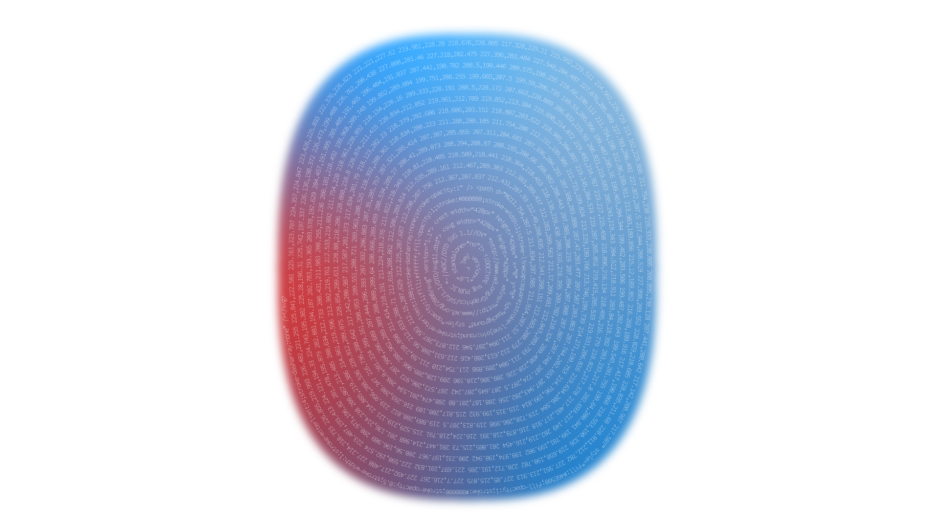 Blue and red ellipse