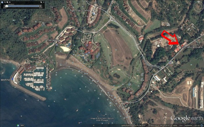satellite picture of Playa Herradura