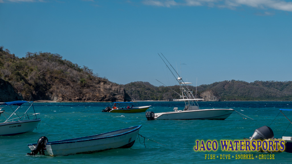 our boat moored at isla tortuga