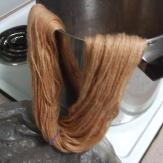 naturally dyed yarn