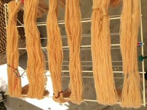 natural yarn dyeing - onion skin