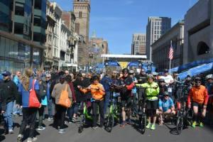 EliptiGO ride-end-Boston Finish Line
