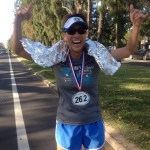 "Jeaney ceremoniously ""finishes"" her 2013 Boston, back home in Hawaii"