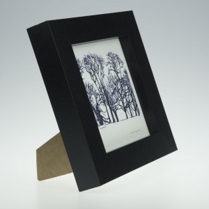 'Trees at Upton House-Black & White'