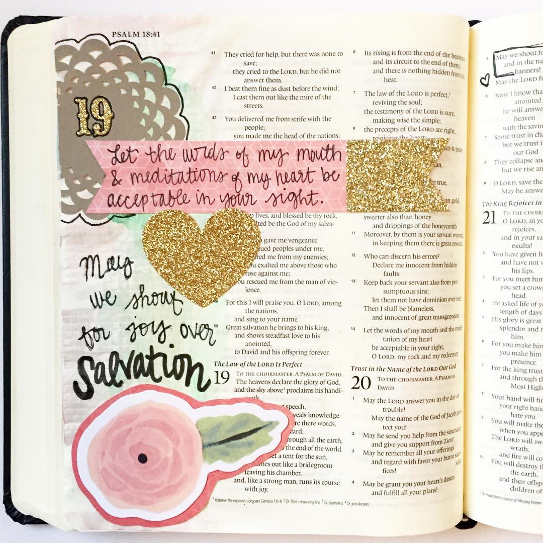 Days 19 amp 20! psalmsdaybyday writtenworship illustratedfaith biblejournalingcommunity journalingbible biblejournaling